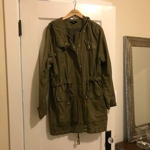 Long Parka Jacket with Hood
